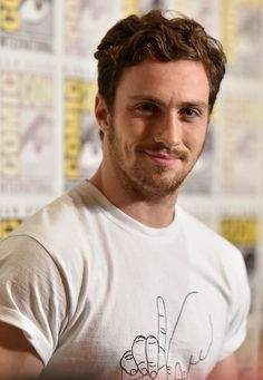Aaron Taylor-Johnson with the Avengers at Comic-Con 2014