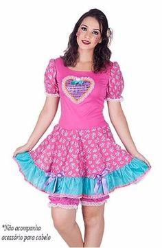 vestido junino adulto fantasia festa junina caipira - tam44