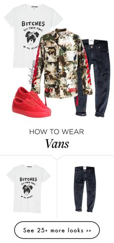 """Untitled #3407"" by stylistbyair on Polyvore featuring Black Score, Off-White and Vans"