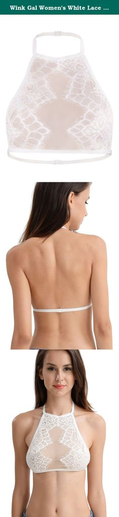 Wink Gal Women's White Lace Bralette Halter Backless Cami Crop Tops White L. WINK GAL Wink Gal is a fashion brand that has been specializing in fashion women clothing. It is known for its boho style, which was inspired by Hippies, far-off places and vintage treasures. It represents beauty and creativity , individuality and confidence, happiness and freedom, while keeping with its great quality and affordability. With its unique style and new fashion vision, Wink Gal attracts thousands of...