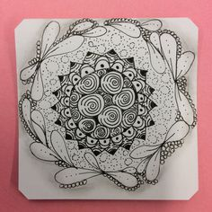 Zentangle by Cami of Zen Drawing Club