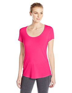 Lucy Womens Short Sleeve Workout Tee Azalea Large ** You can find out more details at the link of the image.(This is an Amazon affiliate link and I receive a commission for the sales)