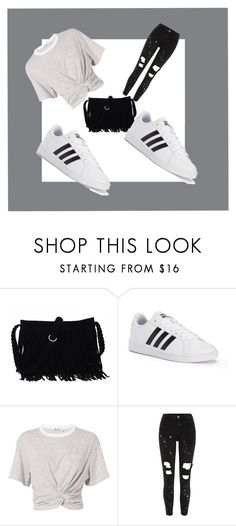 """Untitled #57"" by anthomas253 ❤ liked on Polyvore featuring adidas, T By Alexander Wang, River Island and cute"