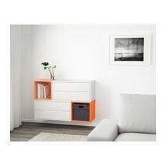 EKET Estantería de cubos - blanco/naranja/naranja claro - IKEA