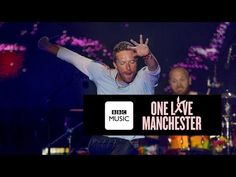 Chris Martin and Ariana Grande - Don't Look Back In Anger (One Love Manchester) - YouTube