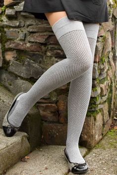 Extraordinary Waffle Thigh High -- one of our latest Dreamer Socks creations! We love the thermal-like quality of this waffle knit texture!