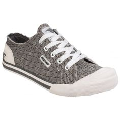 Jazzin Lace Up Grey Sneakers