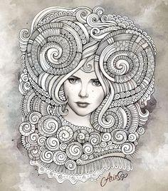 "Zodiac illustration ""ARIES"" by balabolka, via Behance"