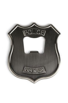 Police Badge Stainless Steel Bottle Opener