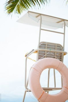 Lifeguard seat on the beach by Di Na - Beach, Vacation - Stocksy United Beach Aesthetic, Summer Aesthetic, Blue Aesthetic, Photo Wall Collage, Picture Wall, Summer Wallpaper, Beach Wallpaper, Pink Photo, Pink Walls