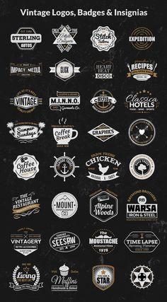 Vintage Logos, Badges, Insignias Kit Vol 1 is part of Vintage logo design - This is a vintage logos, badges and insignias kit with off Read Vintage Logos, Pepsi Vintage, Ford Vintage, Vans Vintage, Chanel Vintage, Adidas Vintage, Vintage Graphic Design, Vintage Designs, Vintage Branding