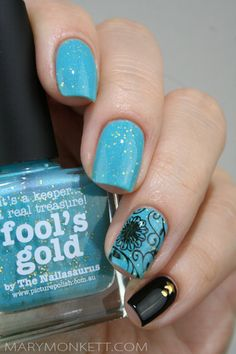piCture pOlish 'Fool's Gold' nails by Mary Monkett LOVE! Shop on-line: www.picturepolish.com.au