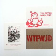 Holiday Cards Set now featured on Fab.