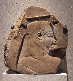 Fragment of a relief representing queen Tiye | by Lenka P