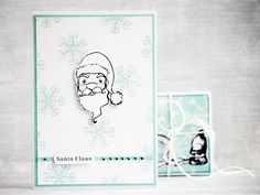 card by AgnieszkaD, using stamps from Eye Christmas Ideas, Xmas, 3rd Eye, My Works, Stamps, Santa, Cards, Seals, Christmas