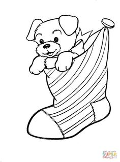christmas stocking coloring pages kids | coloring pages ... - Christmas Stocking Coloring Pages