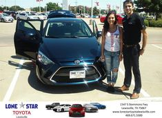 Congratulations Lauren on your #Scion #iA from Kyle Coffman at Lone Star Toyota of Lewisville!  http://deliverymaxx.com/DealerReviews.aspx?DealerCode=E208  #LoneStarToyotaofLewisville