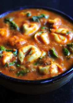 Spinach Tortellini Soup Recipe ~ this is a hearty soup to warm you on a chilly night.