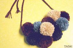 Pom-pom Necklace Scarf - DIY (2)