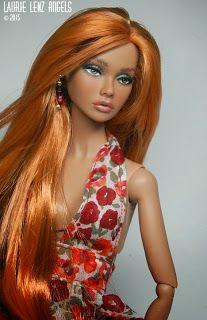 Laurie Lenz ANGELS Doll Studio Blog: Repaint Reroot Commission --- Poppy Parker --- Penny Roux