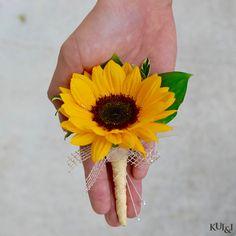 Sunflower Boutonniere Kui & I Florist, LLC Hilo, Hawaii kuiandiflorist.com…