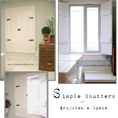 how to build simple shutters