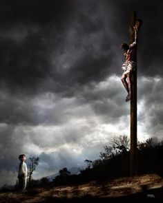 """Jesus Christ carried our curse on the cross so that we could enjoy the blessing of God. One Bible teacher explained what he called the divine exchange: """"The evil that… Jesus Art, God Jesus, Jesus Father, Yes Jesus Loves Me, Jesus Christus, Biblical Art, Jesus Pictures, Lord And Savior, Son Of God"""