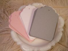 150  Gift Tags / Escort Cards / Hang tags / Blank by MorrellDecor, $21.00