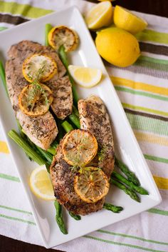 Lemon-Herb Tilapia  Super healthy, cheap, easy, delicious and fast weeknight dinner!