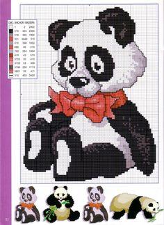 Cross-stitch Stuffed Panda Bear ... Gallery.ru / Фото #51 - Disenos de animales en punto de cruz - anfisa1