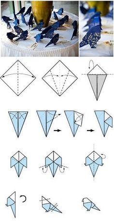 Origami de Passarinho ^^
