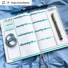 By @bujo.snowberry Tag your photos with #bujobeauty for a chance to be featured ・・・ Newest weekly ! Feeling very blue/green for January so I'm just gonna follow that pattern through til the end of the month !! ❄️ . . . . . . . . . . . #bujoinspire #bujojunkies #bujobeauty #bujonewbie #bujolove #bujo #bulletjournal #bulletjournalideas #bulletjournalcommunity #bulletjournalcollection #leuchtturm1917 #bulletjournal2018 #showmeyourplanner #journal #journaladdict #planwithme #bujospread...