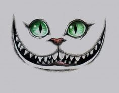 High quality art print of one of my drawings. 6 x 5 inches Ink and colored pencil on paper. High quality drawing of the Cheshire Cat from