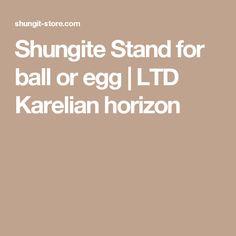 Shungite Stand for ball or egg | LTD Karelian horizon