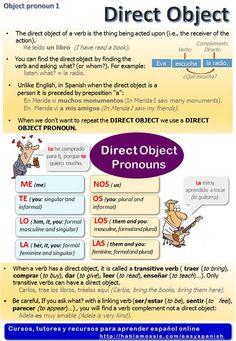 Spanish grammar, direct object pronouns