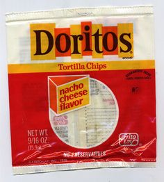 The old Doritos bag.. love it! And I still say that Doritoes tasted way  different (and much better!) back then.