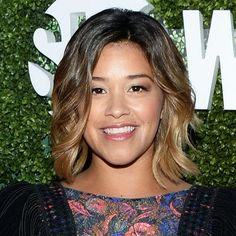 Gina Rodriguez's glossy nude lips are so stunning