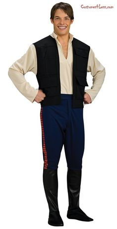 Star Wars Deluxe Han Solo Adult Costume at Costumes4Less.com