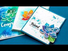 Video: Brusho Color + Waffle Flower Blog Hop + GIVEAWAY | Jennifer McGuire Ink