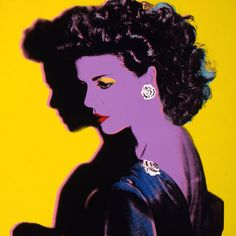 Andy Warhol (American, 1928-1987)    Princess Caroline of Monaco, 1983. Acrylic and silkscreen ink on linen    The Andy Warhol Museum, Pittsburgh. Founding Collection