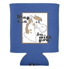 May The Horse Be With You v.2 Can Cooler - kitchen gifts diy ideas decor special unique individual customized