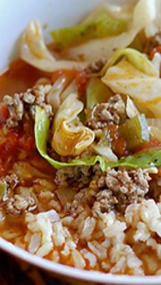 Soup And Stews Cabbage Roll Trendy Ideas Cabbage Recipes, Soup Recipes, Cooking Recipes, Healthy Recipes, Healthy Soups, Chili Recipes, Recipes Dinner, Cabbage Roll Soup, Cabbage Rolls