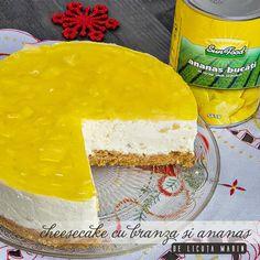 Din bucătăria mea: Cheesecake cu branza si ananas Cheesecakes, Camembert Cheese, Recipes, Food, Cheese Cakes, Eten, Cheesecake, Recipies, Ripped Recipes