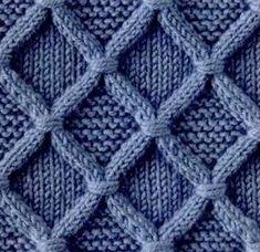 Арановый узор с перевитыми петлями