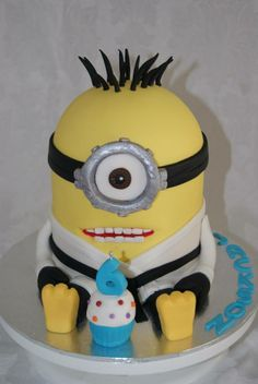 Karate Minion Birthday Cake by Tracey's Delights, Perth, Western Australia. You'll find this Cake Appreciation Society Member in our Directory at www.cakeappreciationsociety.com