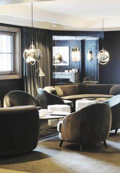 Hotel Apogée, Courchevel, by Joseph Dirand Joseph Dirand, Boutique Design, Cafe Bar, Contemporary, Interior Design, Architecture, Table, Inspiration, Furniture