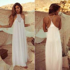 Chiffon Maxi Beach Dress #chiffondress #beachdress #maxidress