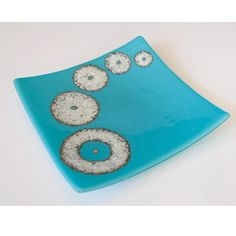 Delphi Glass, Fused Glass Plates, Stained Glass Projects, Artist Gallery, Glass Art, Turquoise, Resin, Sweet, Ideas