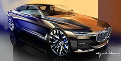 future concept car design | BMW Vision Future Luxury Concept - Design Sketch by Nicolas Guille