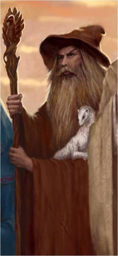 Radagast was originally a Maia - of High Servant of the Valar - named Aiwendel.  He was selected by Yavanna - the Vala of growing things - to join the quest to Middle-Earth, in which the Istari Wizards would travel to Middle-Earth to help the peoples there oppose Sauron.